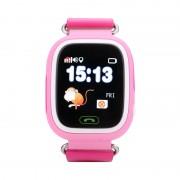 Ceas inteligent pentru copii GW100 Roz cu telefon localizare GPSWiFi si functie monitorizare spion