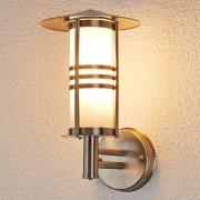 Lampenwelt.com Très jolie applique d'extérieur Erina en inox - LAMPENWELT.com
