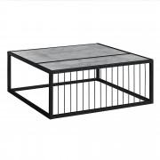 [en.casa]® Dohányzóasztal Belfast design nappali asztal 75 x 75 x 30 cm fém váz beton hatás