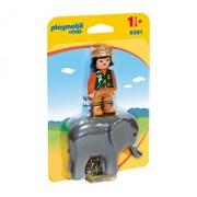 Playmobil 1.2.3, Ingrijitor Zoo cu elefant