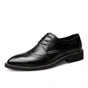 ZUAN Cinturón Tallado de Estilo británico for Hombres de Negocios Oxford de Cuero Genuino Brogue Zapatos Elegantes y cómodos Zapatos (Color : Negro, tamaño : 26)