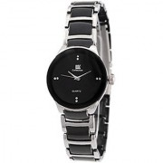 i DIVA'S LIFE IIK Collection Round Analogue Black Dial WOMENs Watch