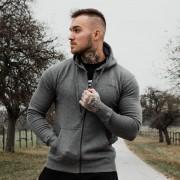 GymBeam Duksa Zipper Hoodie Grey Black S