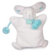 Doudou Lapin Marionnette Blanc Vert Amande Pompon Doudou Et Compagnie Jouet Eveil Bebe Doudou & Cie Puppet Plush Soft Toys Bunny