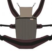 Nandu ÖKO Bébi Csatos állítható hordozó - Grizzli barna pánttal