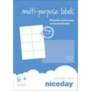 Niceday Etiqueta multifunción Niceday 980469 Blanco 800 etiquetas por paquete