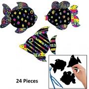 Magic Color Scratch Fish Ornaments (2 dz)