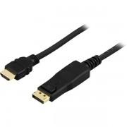 Deltaco DisplayPort till HDMI-kabel