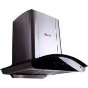 Seavy Zeroun Stainless Steel 60 Auto Clean Wall Mounted Chimney(Silver/Steel Grey 1200 CMH)