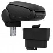 Středová loketní opěrka - vhodná pro: Fiat Grande Punto (Rok výroby od 09/2005) - Látkový potah (plochá tkanina) - Černá s černými švy