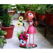 Wonderland GIRL WITH POT Big Planter / Pot for Home & Garden