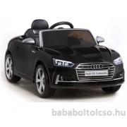 Audi S5 Cabriolet 12V Elektromos kisautó fekete RENDELHETÕ