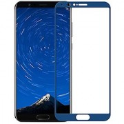 Huawei Honor View 10 (Blue) Designer Scratch Guard Premium Coating Full Glue 9h 5D Quality Tempered Glass Screen Protector