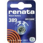 Baterie buton oxid de argint 389, 1,55 V, 80 mAh, Renata
