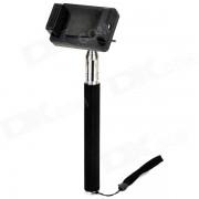 Monopod de aleacion de aluminio de mano + adaptador para tripode + soporte para GoPro Hero 2/3 / 3+ / SJ4000 - Negro