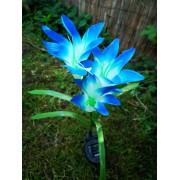 Lily napelemes kerti lámpa kék színvilág