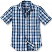 Carhartt Slim Fit Plaid Camisa de manga corta Azul M
