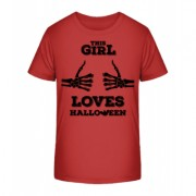 This Girl Loves Halloween - Kinder Premium Bio T-Shirt