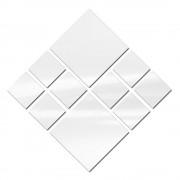 Espelho Decorativo de Vidro Kit com 10 Quadrados Personalizáveis