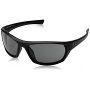 Under Armour Ua Powerbrake anteojos de sol polarizadas, Ua Powerbrake Satin Black / Black Frame / Gray Lens, Medium/Large