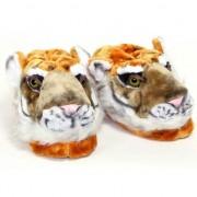 Merkloos Volwassenen dierensloffen / pantoffels tijger L (39-41,5) - Sloffen - volwassenen