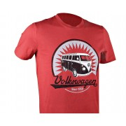 VW Collection Officiële VW Camper Van T1 Mens rood T-Shirt-Samba