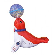 Zuffon Sea Lions Dancing Toy with Reflected 3D Lights & Wonderful Music for Kids, Battery Operated, Multi Color