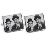 Mousie Bean Photo Cufflinks Laurel & Hardy 1033-4