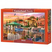 Castorland legpuzzel Sunset Harbour 500 stukjes