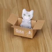 ER-gato Gato Gris Cartón Señala Pegatinas