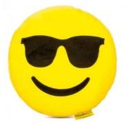 Perna decorativa Emoji cu ochelari de soare Happy Face