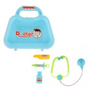 MagiDeal Children Pretend Role Play Toys Plastic Doctor Nurse Tools Kit Fun Playing Game Blue B#