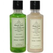 Khadi Pure Aloevera and Jasmine Mogra Body Wash SLS Free Combo (420ml) Pack 2