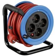 REV Minitrommel Stahlblech 15m blue / Cable red