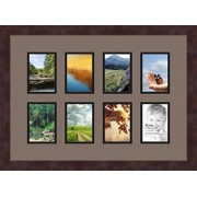 ArtToFrames Art to Frames Double-Multimat-174-748/89-FRBW26061 Collage Frame Photo Mat Double Mat with 8 3.5x5 Openings and Espresso frame