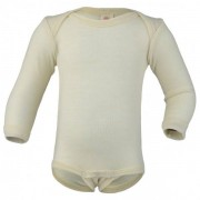 Engel - Baby-Body L/S Clear - Combinaison taille 50/56, gris/blanc