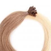 Rapunzel® Hair extensions Bondings Original Glatt O7.3/10.8 Cendre Ash Blond Ombre 60 cm