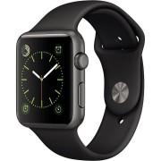 Apple Watch (1. Gen) 42mm Aluminium Gris espacial Pulsera Deportiva Negra