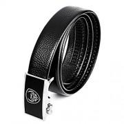 CVBF Cinturón casual para hombre Los hombres ocasionales del cuero genuino pretina de la correa, longitud: 125 cm (Negro) (dos colores) (Color : Black)