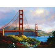 Puzzle SunsOut - Charles White: Morning at the Golden Gate, 1.000 piese (64140)