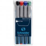 Marker nepermanent SCHNEIDER Maxx 223 F, 4 culori/set