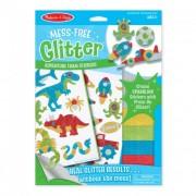 Melissa & Doug Kreatív játék, Glitter pufi matrica készítő, kaland