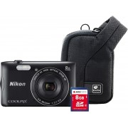 Nikon COOLPIX A300 Zwart + 8GB + case