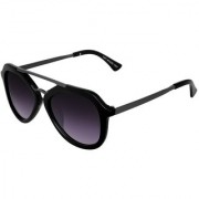 Silver Kartz Luxury Crown Gun-Violet Wayfarer Rectangular Sunglasses (Black Violet)