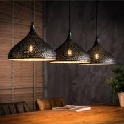 LUMZ Hanglamp met drie trechtervormige metalen kappen