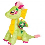 Geen Speelgoed glitter draken knuffels 25 cm Twinkle Lucky groen/geel
