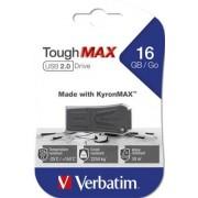 Pendrive, extra ellenálló, 16GB, USB 2.0, VERBATIM ToughMAX, fekete (UV16GTM)