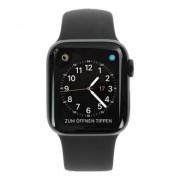 Apple Watch Series 4 Edelstahlgehäuse schwarz 40mm mit Sportarmband schwarz (GPS+Cellular) edelstahl spaceschwarz