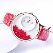 TRUE CHOICE NEW BRAND Stylevilla Women Wadding Red Diamond Red White Party Girls And Ladies Watches FOR WOMEN