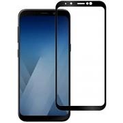 Samsung Galaxy A8 Plus 2018 - Full Cover Screenprotector -Zwart